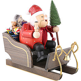 Smoker - Santa Claus with Sleigh - 30 cm / 12 inch