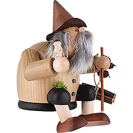 Smoker - Forest Gnome - Edge Stool - 15 cm / 5.9 inch