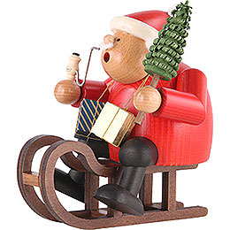 Smoker - Santa Claus with Sleigh - 18 cm / 7 inch