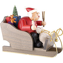 Smoker - Santa Claus with Sleigh - 20 cm / 8 inch