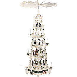 6-Tier Pyramid - White-Green, Electric - 106 cm / 41.7inch - 220V Motor