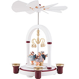 1-Tier Pyramid - Angel Musicians White / Bordeaux - 23 cm / 9 inch
