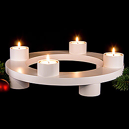 Candle Wreath White - 32 cm / 12.6 inch