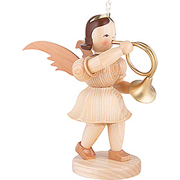 Shortskirt Angel Natural, with French Horn - 20 cm / 7.8 inch