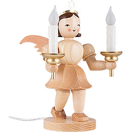 Shortskirt Angel Natural, with Electric Lighting - 20 cm / 7.8 inch