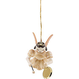 Floating Angel with Gong, Natural - 6,6 cm / 2.6 inch