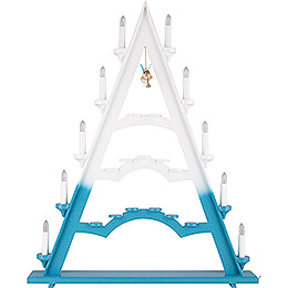 Light Triangle - Electric Lights and One Floating Angel - 53x66 cm / 20.9x26 inch