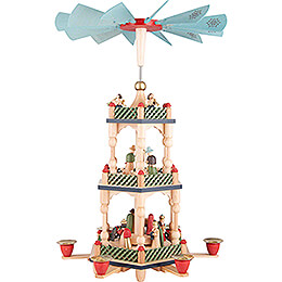 3-Tier Pyramid - Nativity - Colored - 46 cm / 18.1 inch