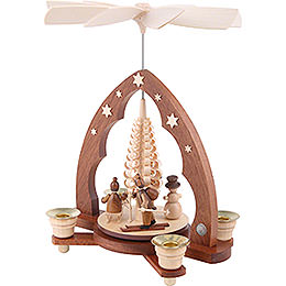 1-Tier Pyramid - Children in Winter - 28 cm / 11 inch