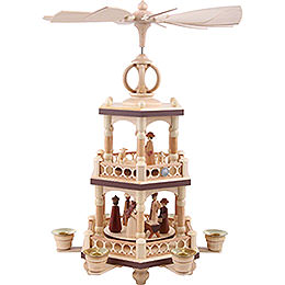 2-Tier Christmas Pyramid - The Christmas Story - 40 cm / 16 inch