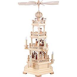 4-Tier Pyramid - The Christmas Story - 64 cm / 25 inch - 230 V Electr. Motor