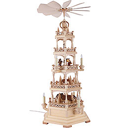 4-Tier Pyramid - Forest Motif - Electrical 120 Volt (US-Standard) - 71 cm / 28 inch
