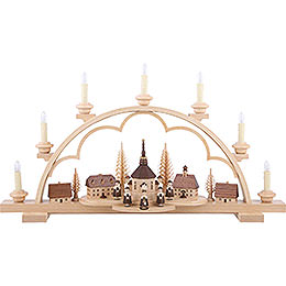 Candle Arch - Village Seiffen - 64 cm / 25 inch - illuminated houses