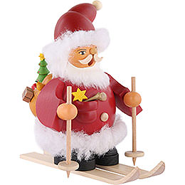 Smoker - Santa on Ski - 14 cm / 6 inch