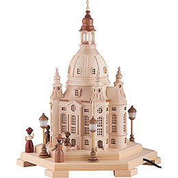 Lighted House Church of Our Lady Dresden 230 V - 24x21x28 cm / 9.4x8.3x11 inch