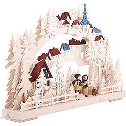 3D Candle Arch - Winter Hike - 43x30 cm / 17x12 inch