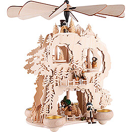 3-Tier Cogwheel Pyramid -Forest People - 35 cm / 13.8 inch