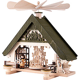 1-Tier Pyramid House - Crafter's Workshop green - 28 cm / 11 inch