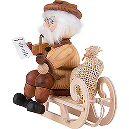 Smoker - Santa on Sled - 17 cm / 6.7 inch