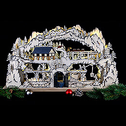 3D Candle Arch - Mining Scenery - 72x42x8 cm / 28x17x3 inch