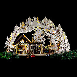 3D Candle Arch - Chefs - 72x42,5x11 cm / 28.3x16.7x4.3 inch
