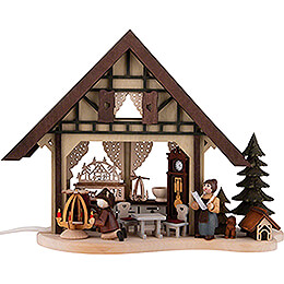 Lighted House - Christmas Parlor - 17 cm / 6.7 inch