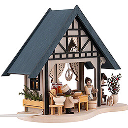 Lighted House - Bakery - 17 cm / 6.7 inch