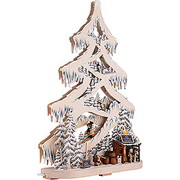 Light Triangle - Fir Tree - Ski Slope with White Frost - 56 cm / 22 inch
