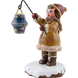 Winter Children Girl with Lantern - 8 cm / 3 inch