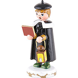 Winter Children Church Singers with Lantern - 7 cm / 3 inch