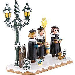 Winter Children Church Singing Group - 16x14 cm / 6x5,5 inch