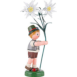 Flower Child Boy with Precious White Flowers - 24 cm / 9,5 inch