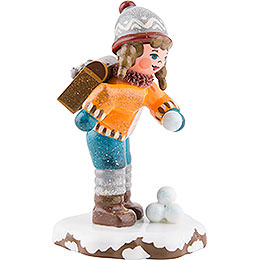 Winter Children Schoolgirl - 7 cm / 3 inch