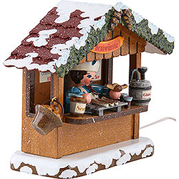 Winter Children Market Booth Bratwurst House - 10 cm / 4 inch