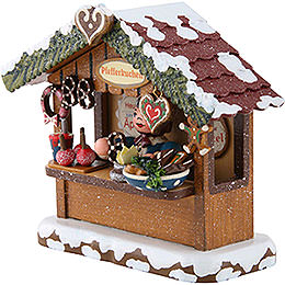 Winter Children Market Booth Gingerbread House - 10 cm / 4 inch