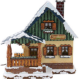 Winter Children Forest House Illuminated - 15 cm / 6 inch