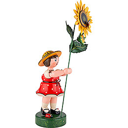 Flower Child with Sun Flower, Red - 53 cm / 21 inch