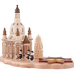 Tea Light Holder - Dresden Church and Carolers - 14,5 cm / 5.7 inch