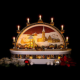 Candle Arch - Christmas Market at the Mine of Molch - Limited Edition - 74x28x58 cm / 29x11x23 inch