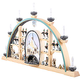 Candle Arch - Freiberg Cathedral - 70x40 cm / 27.5x15.7 inch