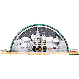 Candle Arch with Carolers and Ore Arch - 33x14 cm / 13x5.5 inch