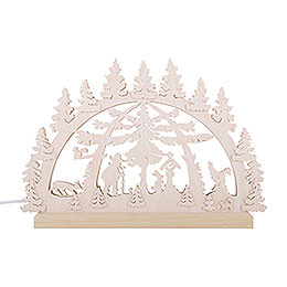 3D Double Arch - Forest Scene - 42x30x4,5 cm / 16x12x2 inch