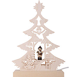 Light Triangle - Christmas Market - LED - 23.5x15.5x4.5 cm / 9.06x5.91x1.57 inch