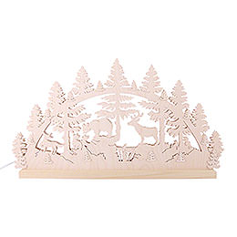 Candle Arch - Animals in the Forest - 72x40x5.5 cm / 28.4x15.6x2 inch