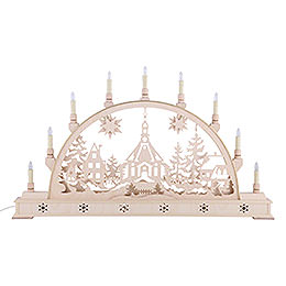 Candle Arch - Seiffen Church with Base - 78x45 cm / 31x18 inch