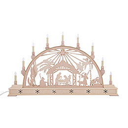 Candle Arch - Nativity Scene with Star and Base - 78x45 cm / 31x18 inch