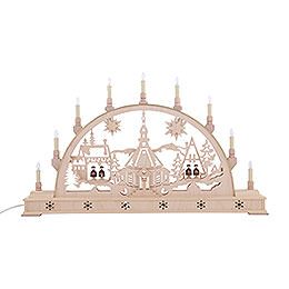 Candle Arch - Church with Carol Singers and Base - 78x45 cm / 31x18 inch