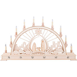 Candle Arch - Nativity with LED Interior Lights - 78x45 cm / 30x17 inch
