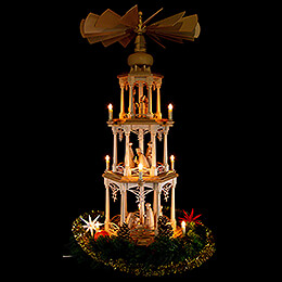 3-Tier Pyramid - Star theme - 107 cm / 42 inch