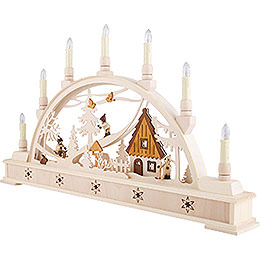 Candle Arch Winter Sports with Base - 63x35 cm / 24.8x13.8 inch